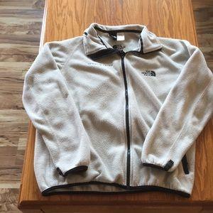North Face Unisex M white fleece jacket